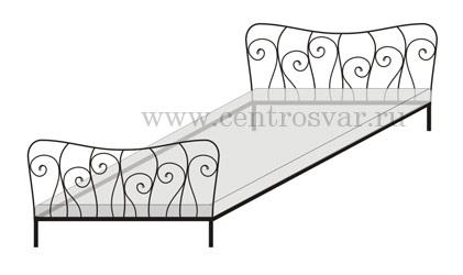Кровати кованные схемы