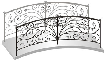 Декоративный кованый мостик