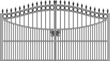 Автоматические металлические ворота