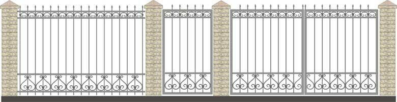 Забор кованый КЗ-37,