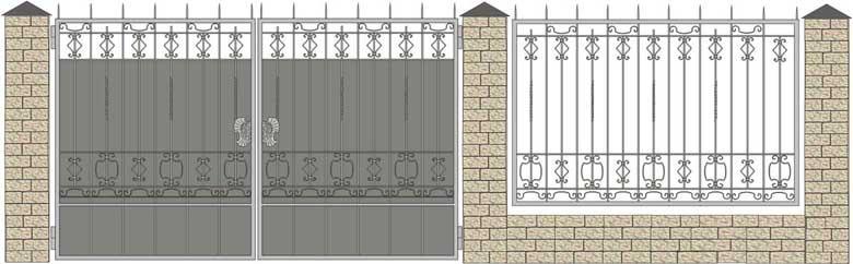Ворота кованые ВК-44,