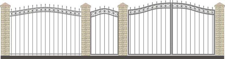 Ворота кованые ВК-8,