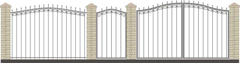 Забор кованый КЗ-6,