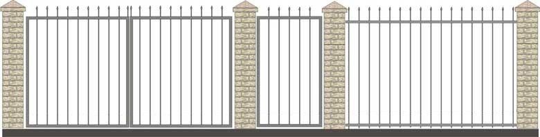 Забор кованый КЗ-1,