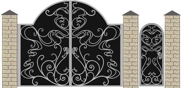 Гаражные ворота и калитки сварные и